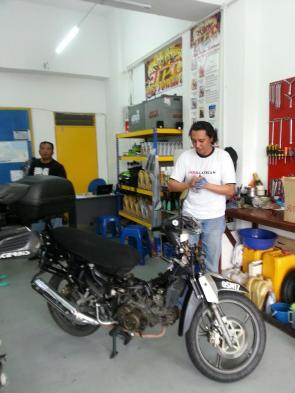 there are times u hv to work on your own bike...